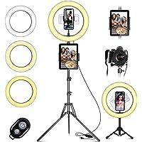 """Lampa pierścieniowa LED ze statywem telefon komórkowy, 10"""" lampa pierścieniowa do selfie z pilotem zdalnego sterowania i…"""