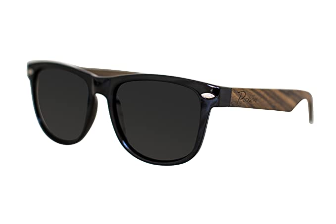 1fb6cc057d6 Amazon.com  Pichon Designs 100% Bamboo Wood Wayfarer Sunglasses ...