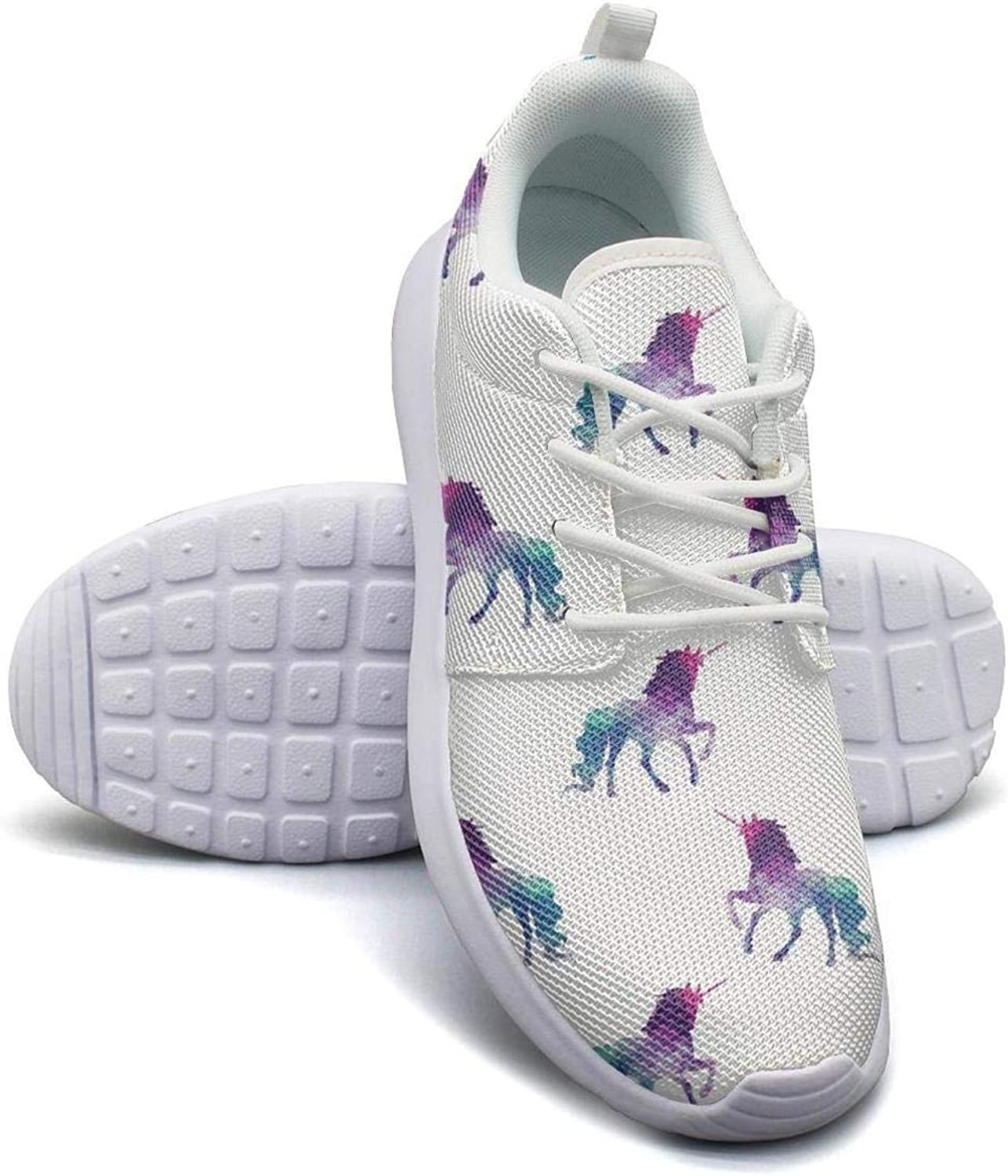 Colorfull Galaxy Unicorn Art Womans Canvas Casual Shoes Designer Tennis Shoes