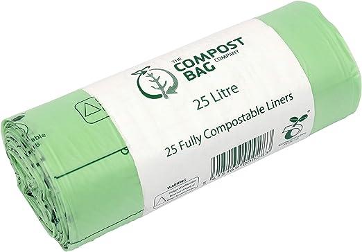25 litros x 25 - agricultor bolsas biodegradables para Compost ...