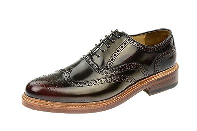 Gordon & Bros levet 2506S Rahmengenähte, Business, Chaussures Homme Derby, Schnürhalbschuhe Brogue, avec Semelles en Cuir - Rouge - Rose, 45 EU