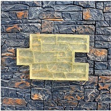 Texturing Skin Slate Pattern Stone Decorative Concrete Cement Imprint Polyurethane Texture Stamp Mat Polyurethane Stamping Set of Polyurethane Mold Forms ROCK STONE