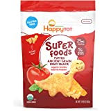 Happy Tot Organic Super Foods Dinos, Organic Toddler Snack, Tomato, Basil, Cheddar, 1.6 Ounce (Pack of 8)