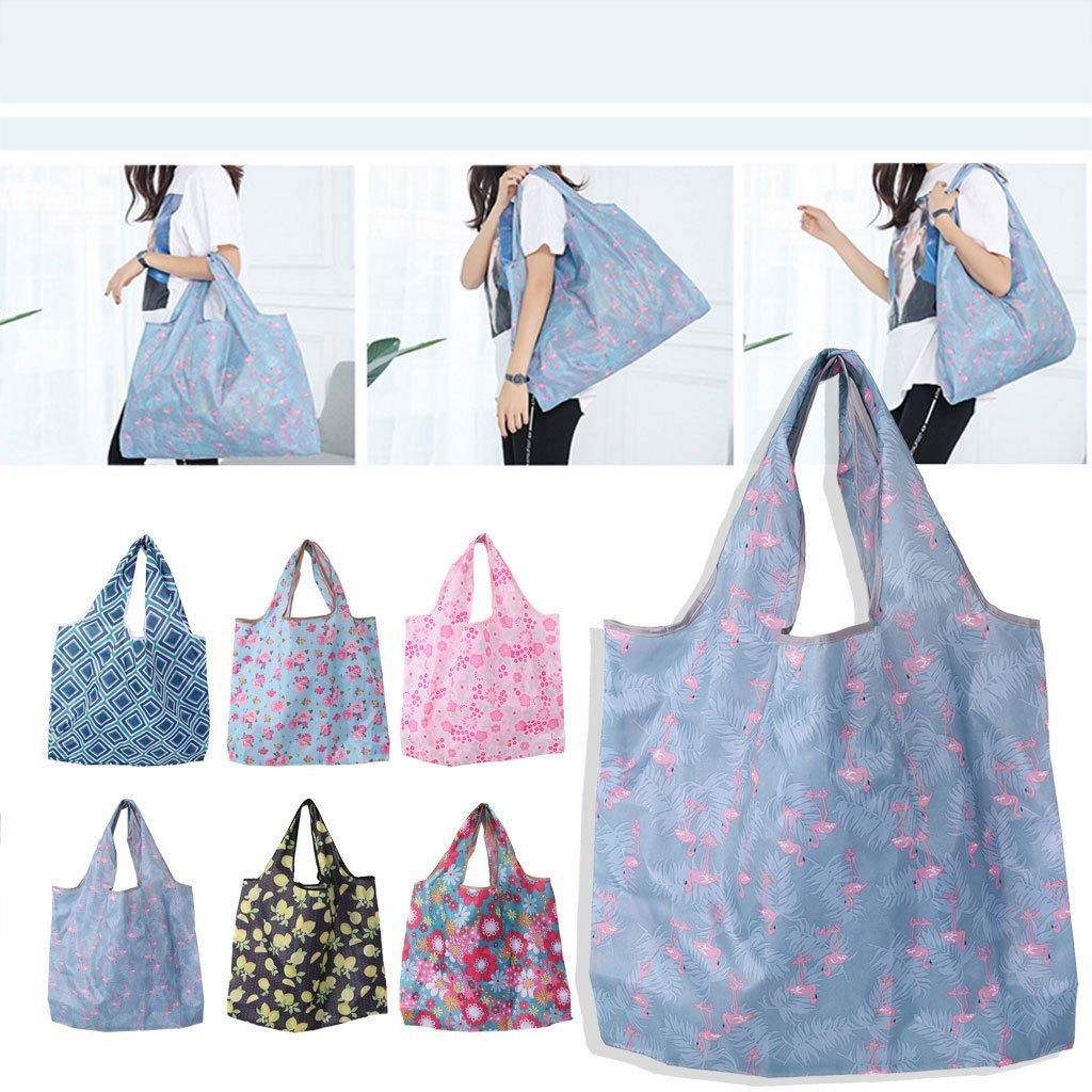 /eco-friendly pieghevole impermeabile borse riutilizzabili per shopping Organizing stampa colorato 47x42x8cm Black Lemon Hgfcdd grande capacit/à borse della spesa/