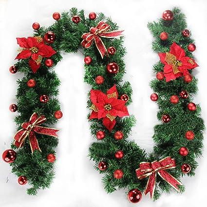Amazon Com Moous Christmas Garland 2 7m Christmas Decor