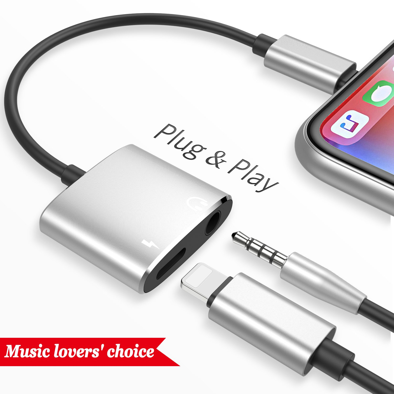 Blitz zu 3.5mm Adapter Adapter für iPhone X 10 8: Amazon.de: Elektronik