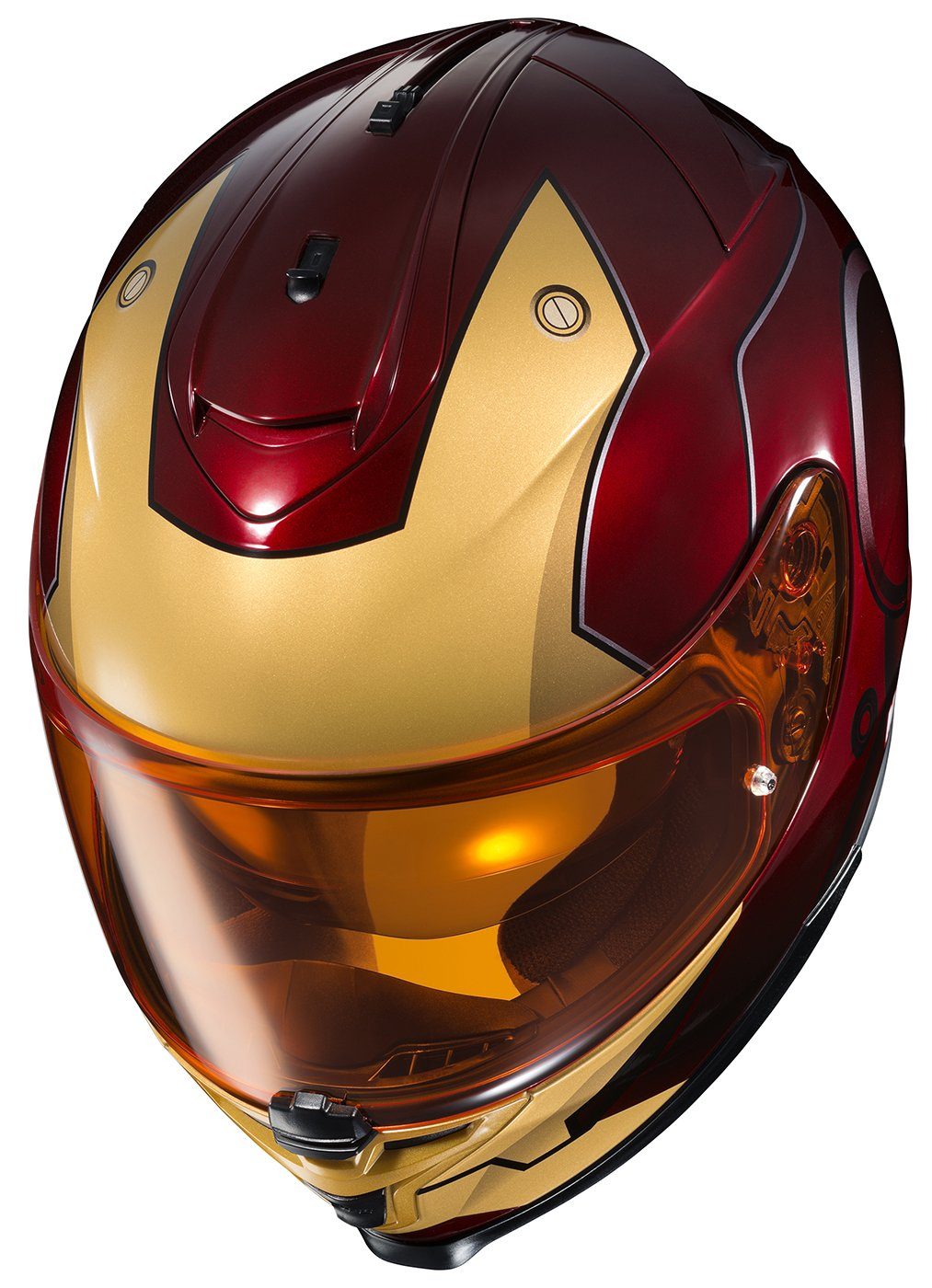 Amazon.es: HJC Helmets Marvel IS-17 Unisex-Adult Full Face IRONMAN Street Motorcycle Helmet (Red/Yellow, Large) by HJC Helmets