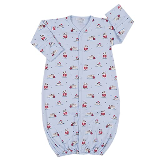 9f40575bd1f Amazon.com  Kissy Kissy Baby-Boys Infant Burly Bulldogs Print Convertible  Gown-Blue-Preemie  Clothing