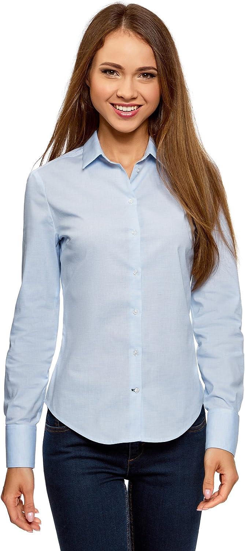 oodji Ultra Donna Camicia Basic in Cotone