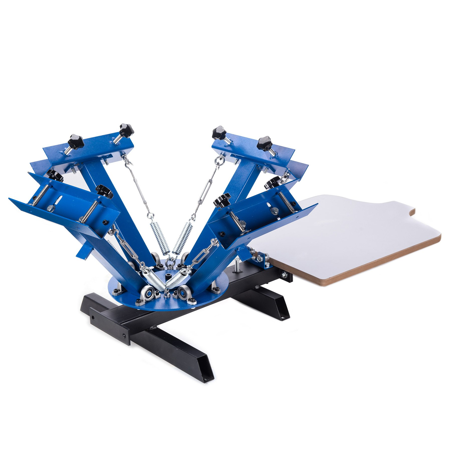 CO-Z 4 Color 1 Station Screen Printing Machine Silk Screen Printing Machine Screen Printing Press Removable Pallet Special Design