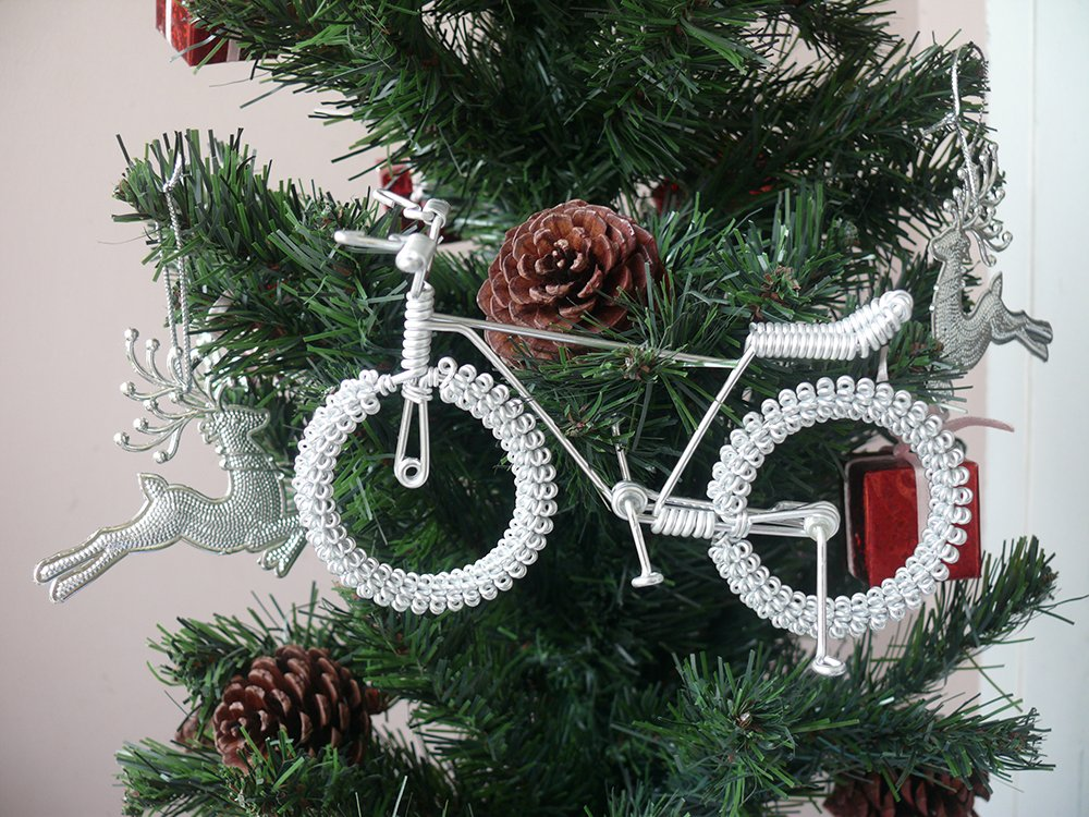 Unique Metal Crafts Gift Art Road Mountain SEXY Bike Model Birthday Christmas Tree Ornaments Decorations Decor Bicycle Cake topper Toys Artwork for Men/women/boys/girls/kids/cyclists/party supplies