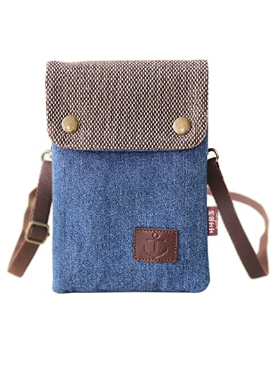 Cell Phone Holder Mini Crossbody Crossbody Purse Shoulder Bag Smartphone  Wristlet Wallet Women s Girl s Cotton Canvas b1aa04b4f4779