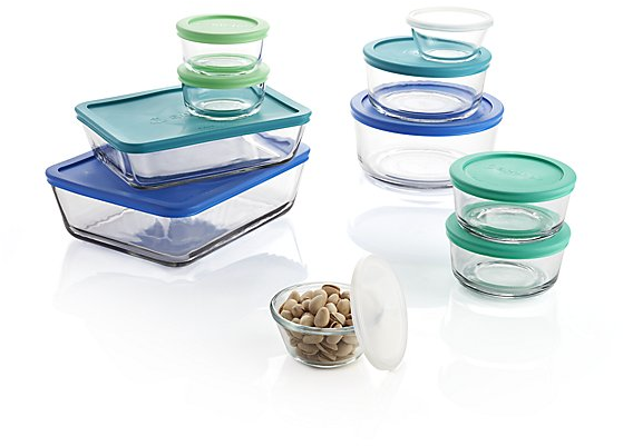 Anchor Hocking ® 20-Piece Glass Storage Set | Crate and Barrel