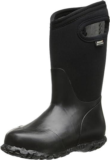 Brand New  Boys All Weather Snow//Rain neoprene Boots Black Big Kids Size 3,6