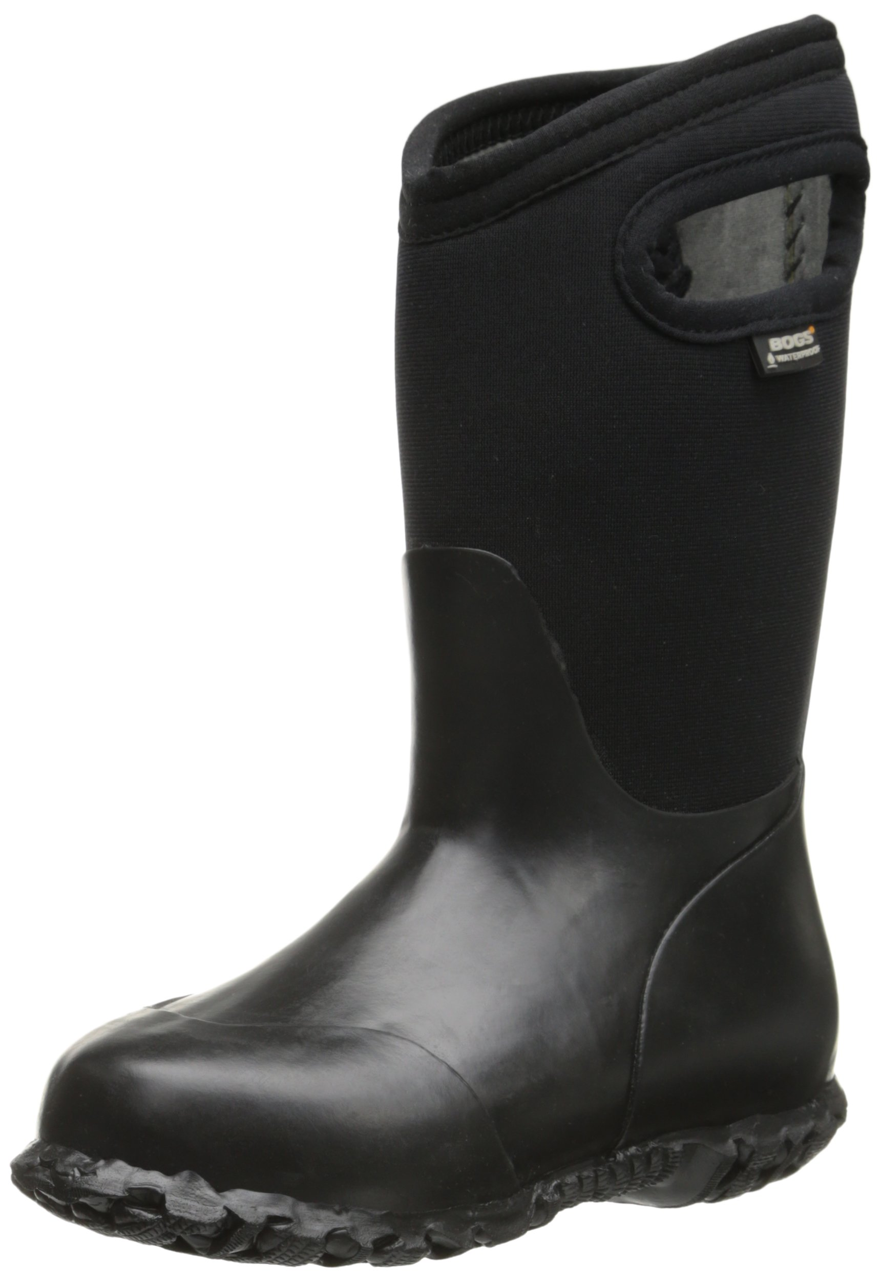 Bogs Durham Kids/Toddler Waterproof Snow Boot for Boys and Girls, All Black, 1 M US Little Kid