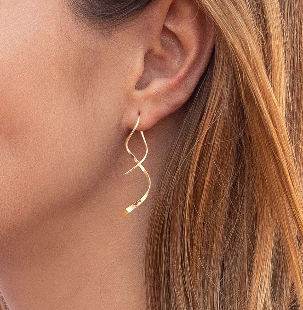 Handmade Yellow Gold Plated 925 Silver Star Design Hook Earrings Jewelry