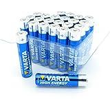 24Varta High Energy mgnon Piles AA alcalines MN1500Pack spécial 24 x Varta High Power AAA