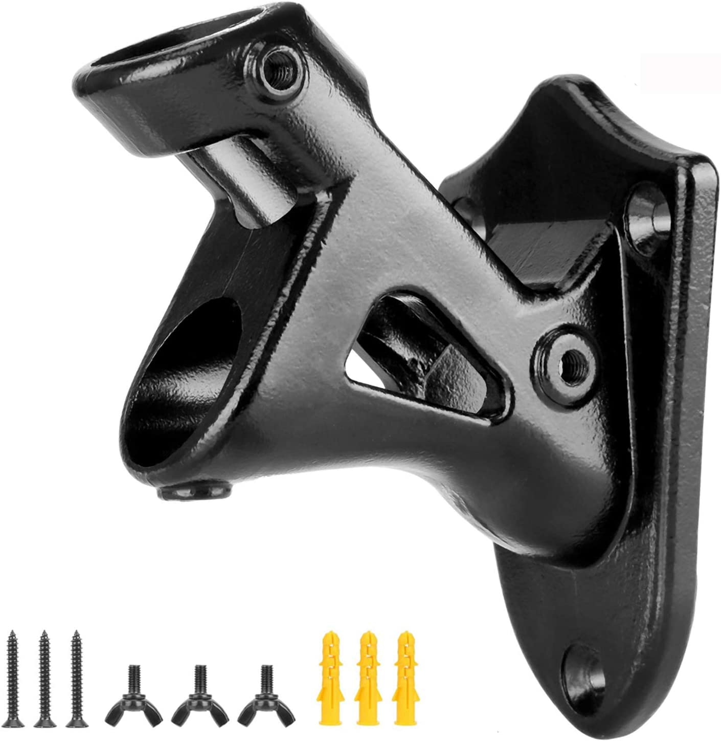 BEMOTA Heavy Duty Stainless Steel Flag Pole Brackets,2 Positions for 1 inch Flag Pole, Anti-Strong Wind Outdoor Wall Mount House Flag Pole Holder,Metal Flag Pole Mounting Bracket