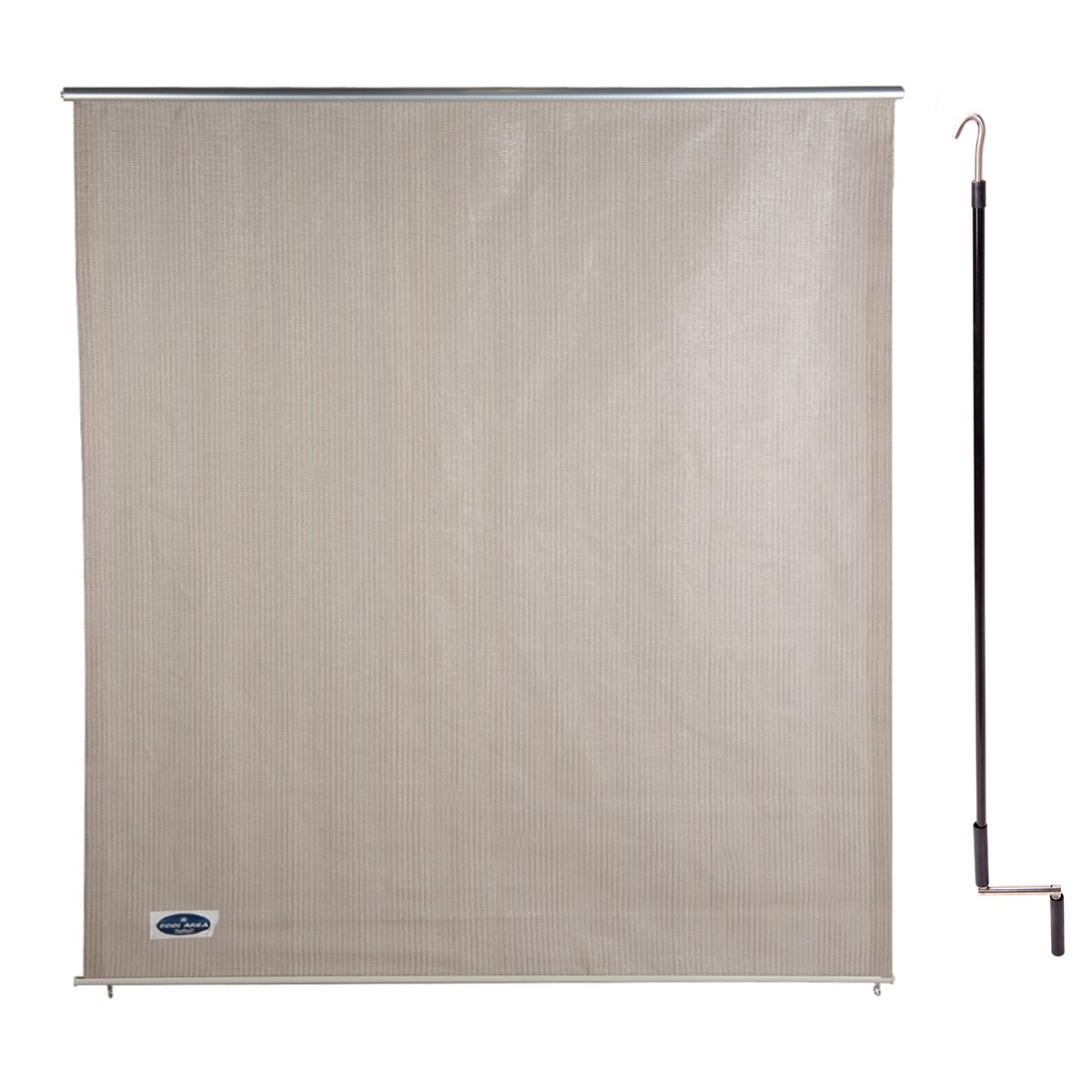Cool Area 6ft x 6ft Outdoor Cordless Roller Sun Shade for Proch Patio in color Sesame