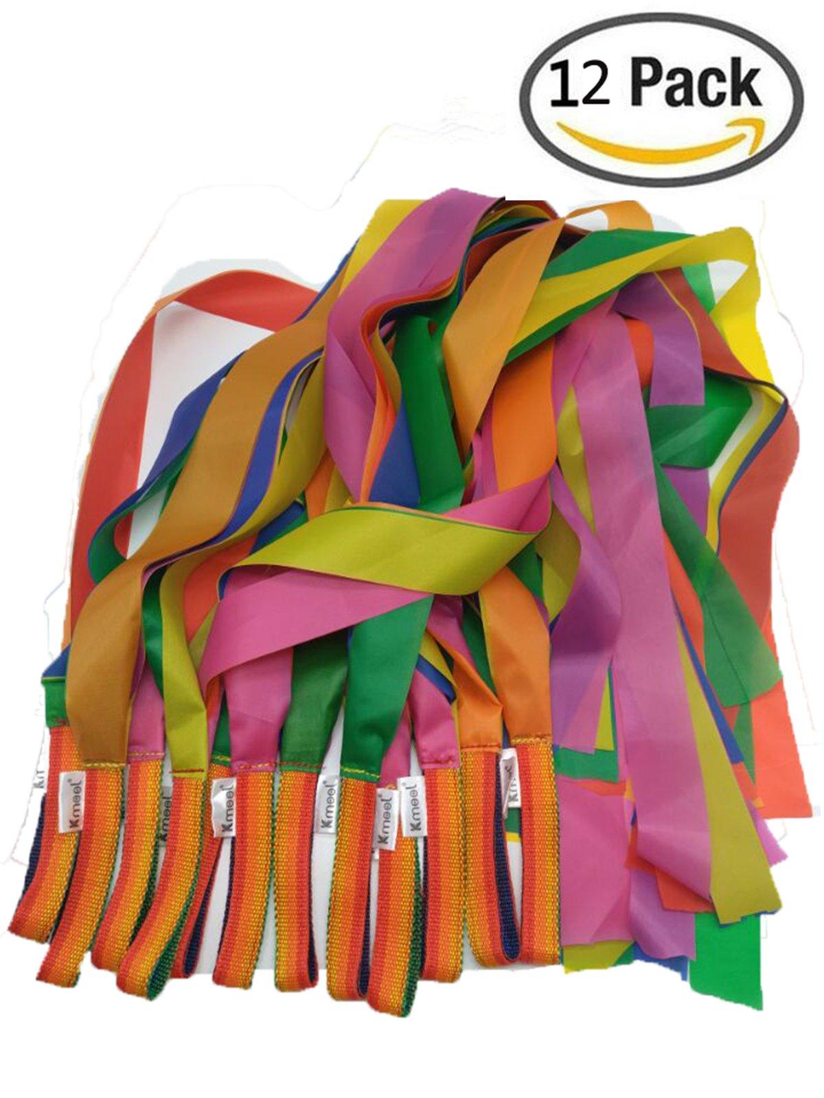 Kmool Rhythm Dance Decoration Rainbow Ribbon-12pcs per Set