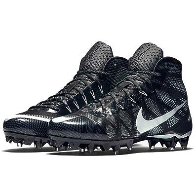 6bbe212c7 NIKE Mens CJ3 Elite TD Football Cleats Black Silver 9.5