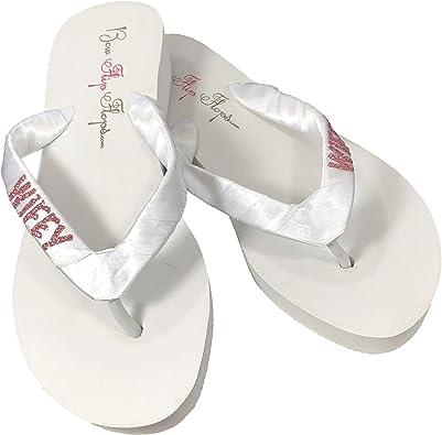 Wifey White Wedding Flip Flops