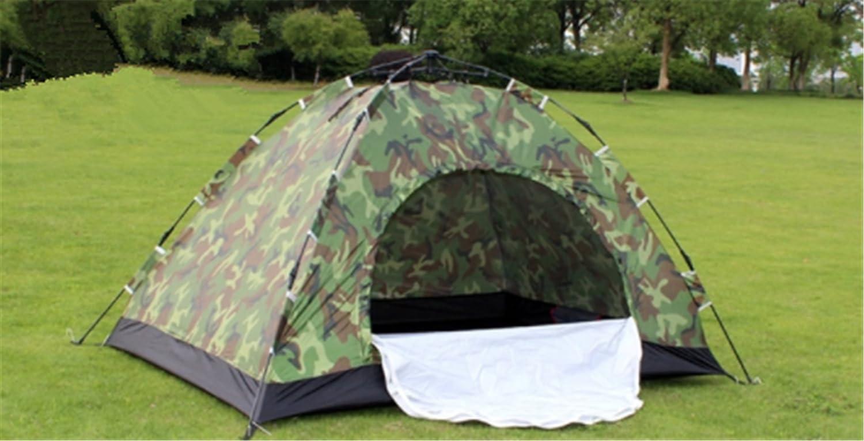 Yeying123 Outdoor 2-Personen Zelt Camping 3-4 Camouflage Zelt Paar Strand Freizeit Zelt,Automatic