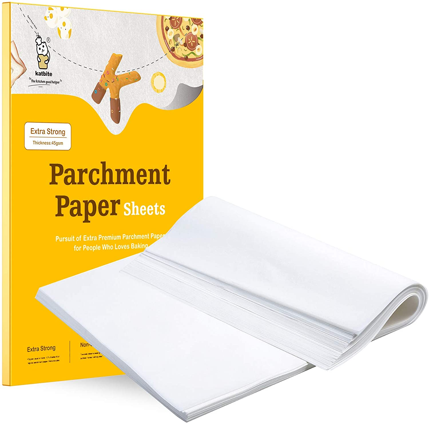 Silicon Coated White Greaseproof Oven Paper for Professional Baking Cooking /& Freezing Baking Paper Parchment Roll 300mm x 50m