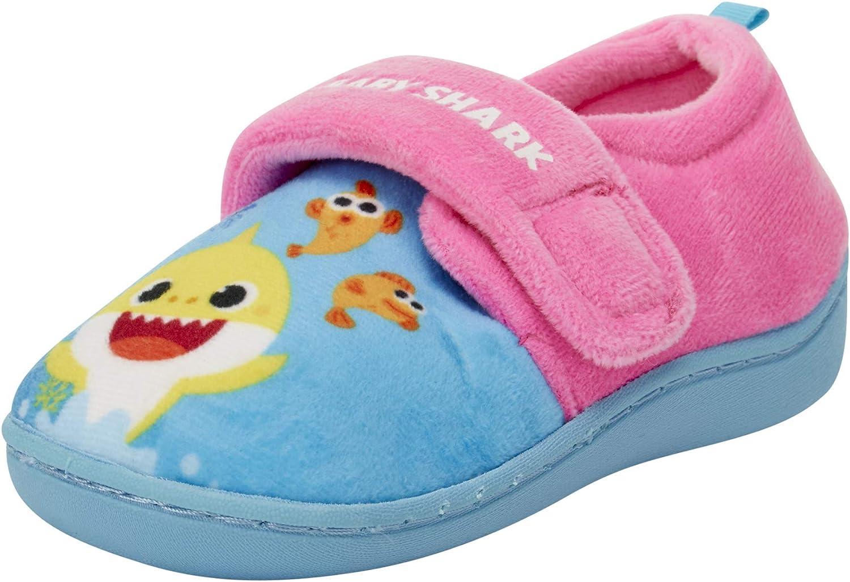 Nickelodeon Toddler Girls' Slippers - Baby Shark Plush House Shoes