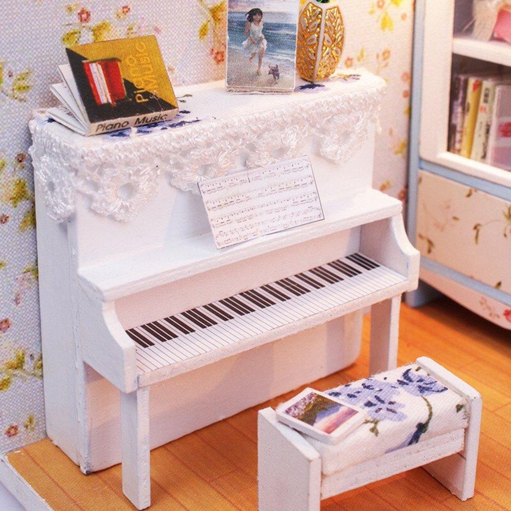 Musical Furniture Amazoncom Flever Dollhouse Miniature Diy House Kit Creative Room