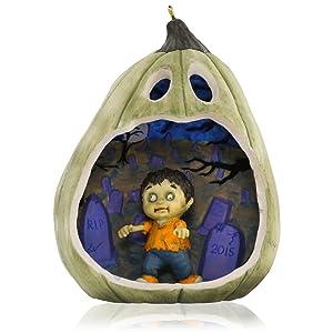 Happy Halloween Zombie Ornament