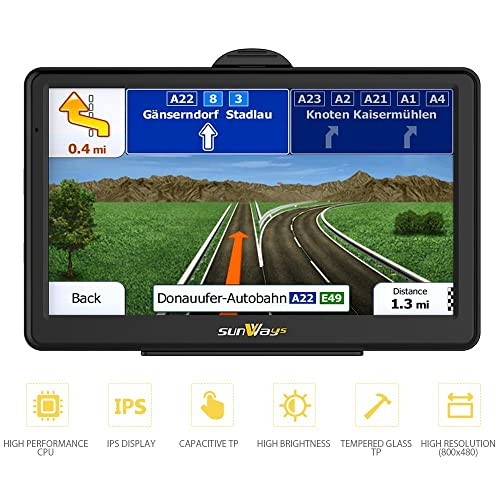 7-inch high-brightness sat nav and touchscreen including pre-installed UK and EU maps for free lifetime updates.sat nav built-in 8BG No need to insert a card