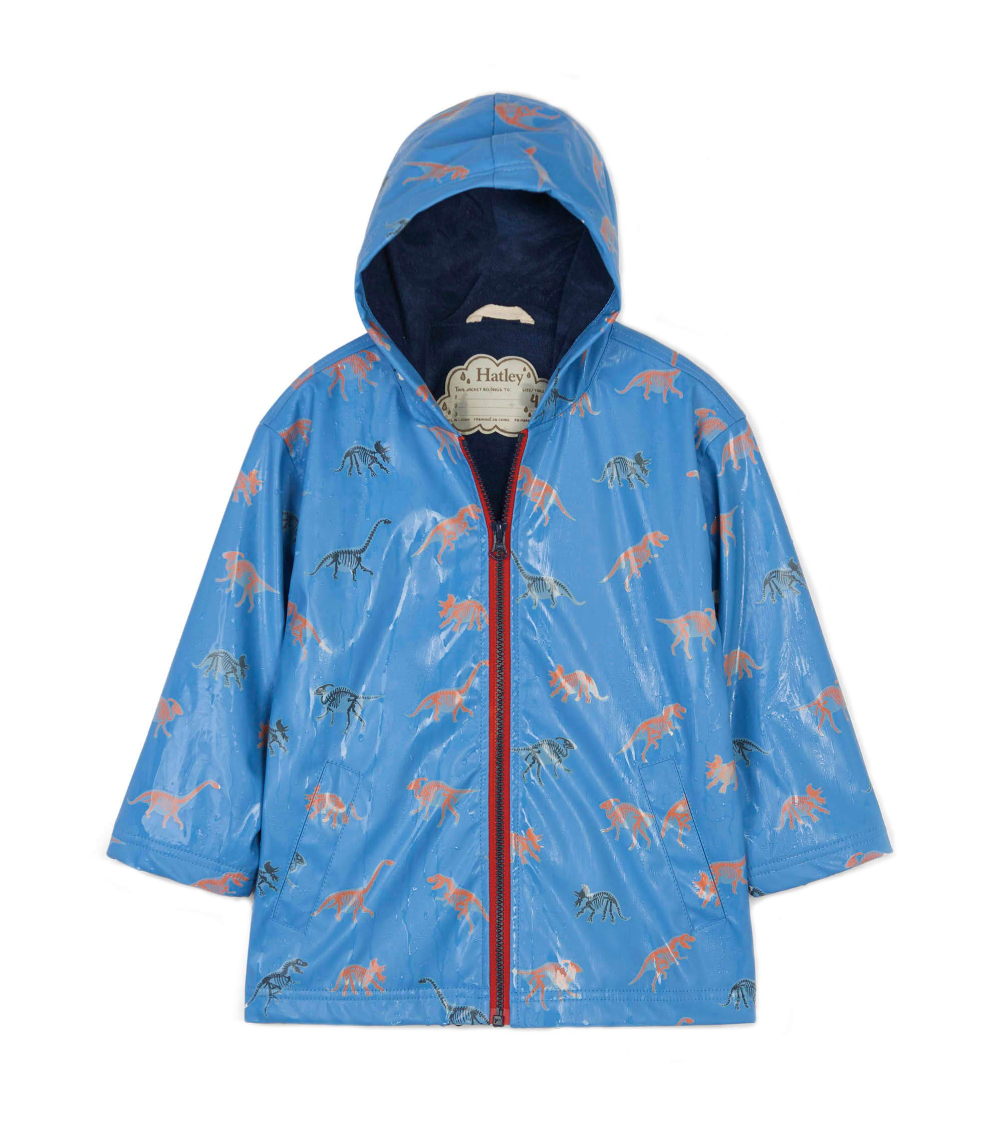 Hatley Boys' Big Splash Jacket, Color Changing Silhouette Dinos 7 Years by Hatley (Image #3)