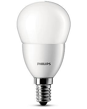 Philips - Bombilla LED esférica, casquillo E14, luz blanca cálida: Amazon.es: Iluminación