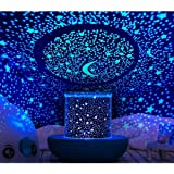 Prolight Remote Control Seabed Starry Sky Rotating LED Projector Night Light Table Lamp for Children Kids Baby Bedroom…