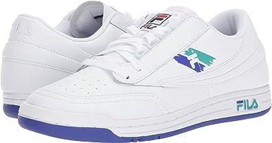 3b480c65ec9d89 Fila Men's Original Tennis Logo Sneakers, White, Leather, 13 M ...