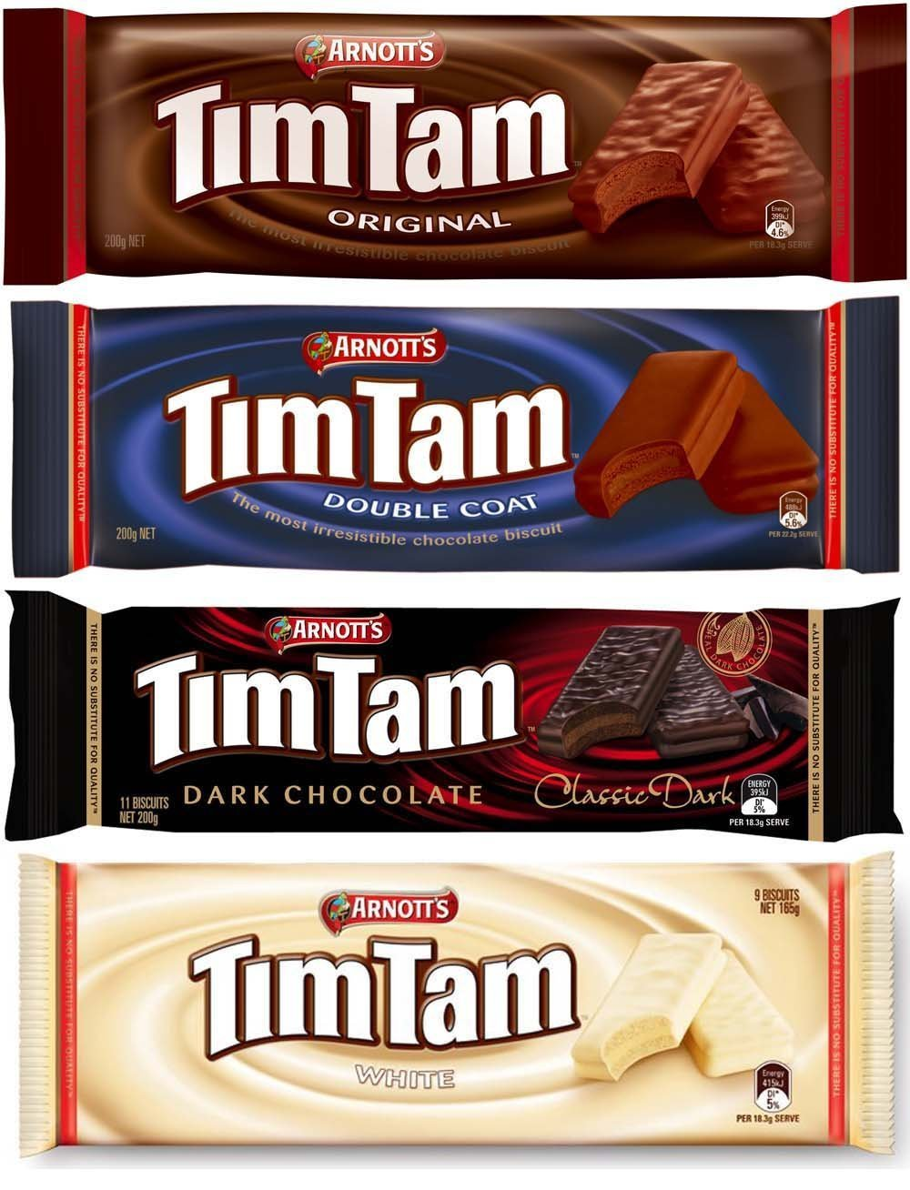 Tim Tam Cookies Arnotts | Australian Classics Sampler 4 Pack x (2 Pack) (=Total 8 Pack)