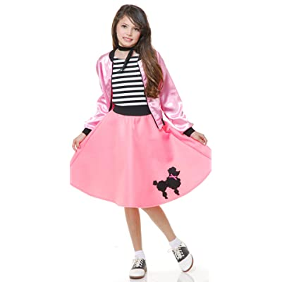 Pink Poodle Dress Kids Costume