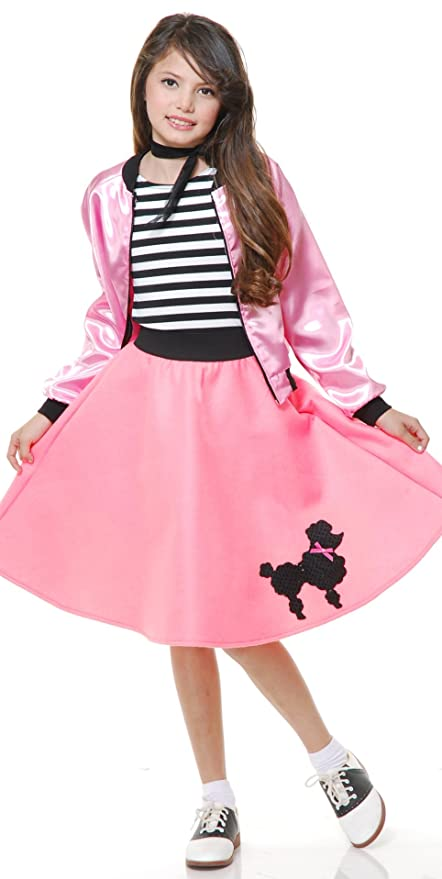 Kids 1950s Clothing & Costumes: Girls, Boys, Toddlers Pink Poodle Dress Kids Costume $50.46 AT vintagedancer.com