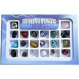 "QGEM 20pcs Mini Edelsteine CHAKRA KIT 0.4 ""-0.9"" Krystall Healing Balance Set"