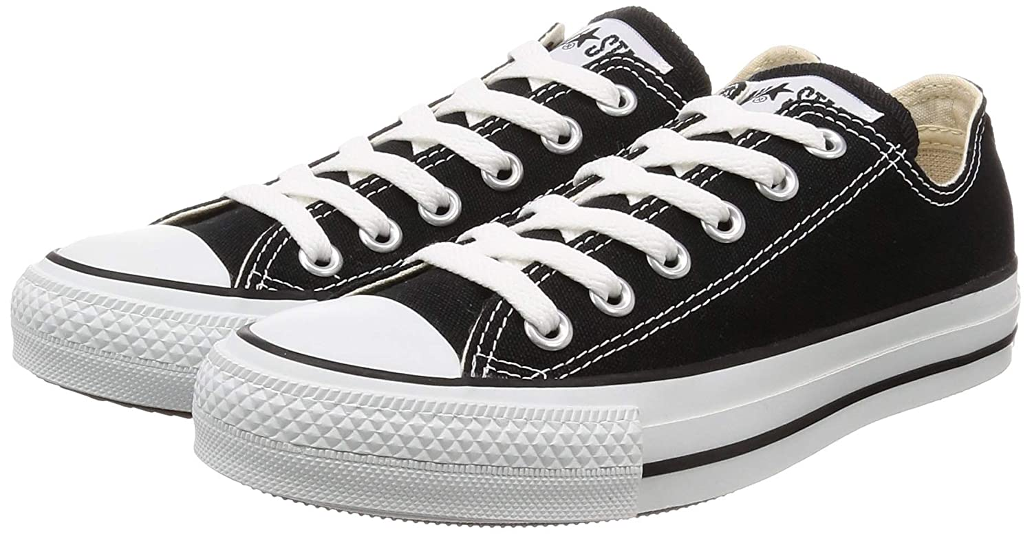 87bc108791 Converse Unisex Chuck Taylor All Star Ox Low Top Classic Black Sneakers -  8.5 D(M) US