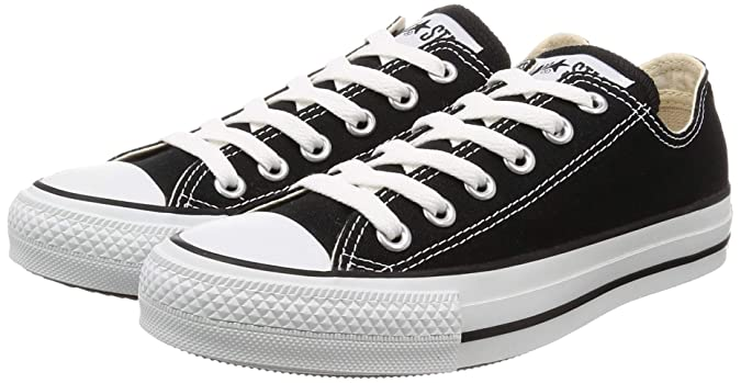 Converse Womens All Star Ox Low Top Lace Up Fashion Sneakers, Black, Size 8.5