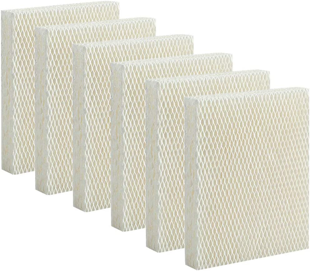 Lxiyu Humidifier Replacement Filter T for Honeywell HEV615 and HEV620 Humidifier Wicking,Compatible with Part # HFT600 Filter(6 Pack)
