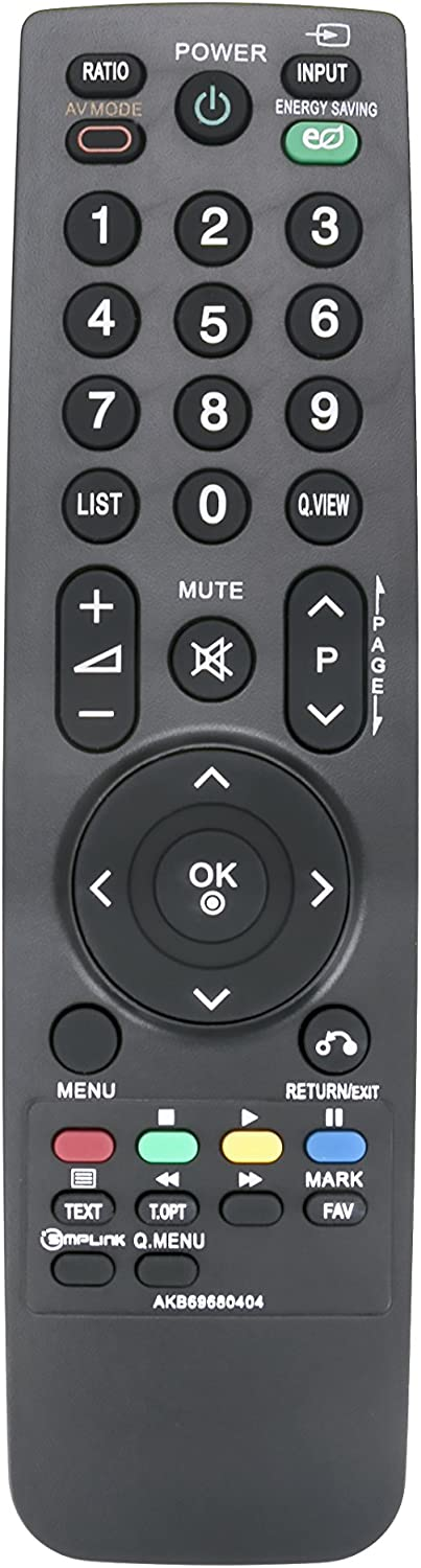 DEHA TV Remote Control for LG 26LH2010 Television