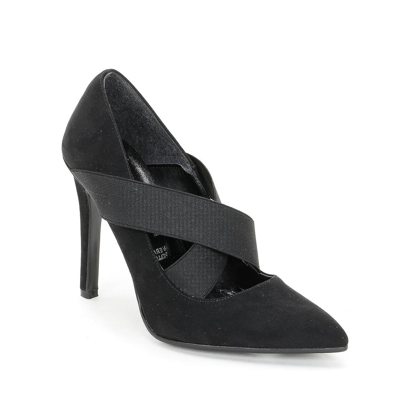 TALLA 36 EU. Alesya by Scarpe&Scarpe - Zapatos de salón con elásticos Cruzados y Punta Alargada