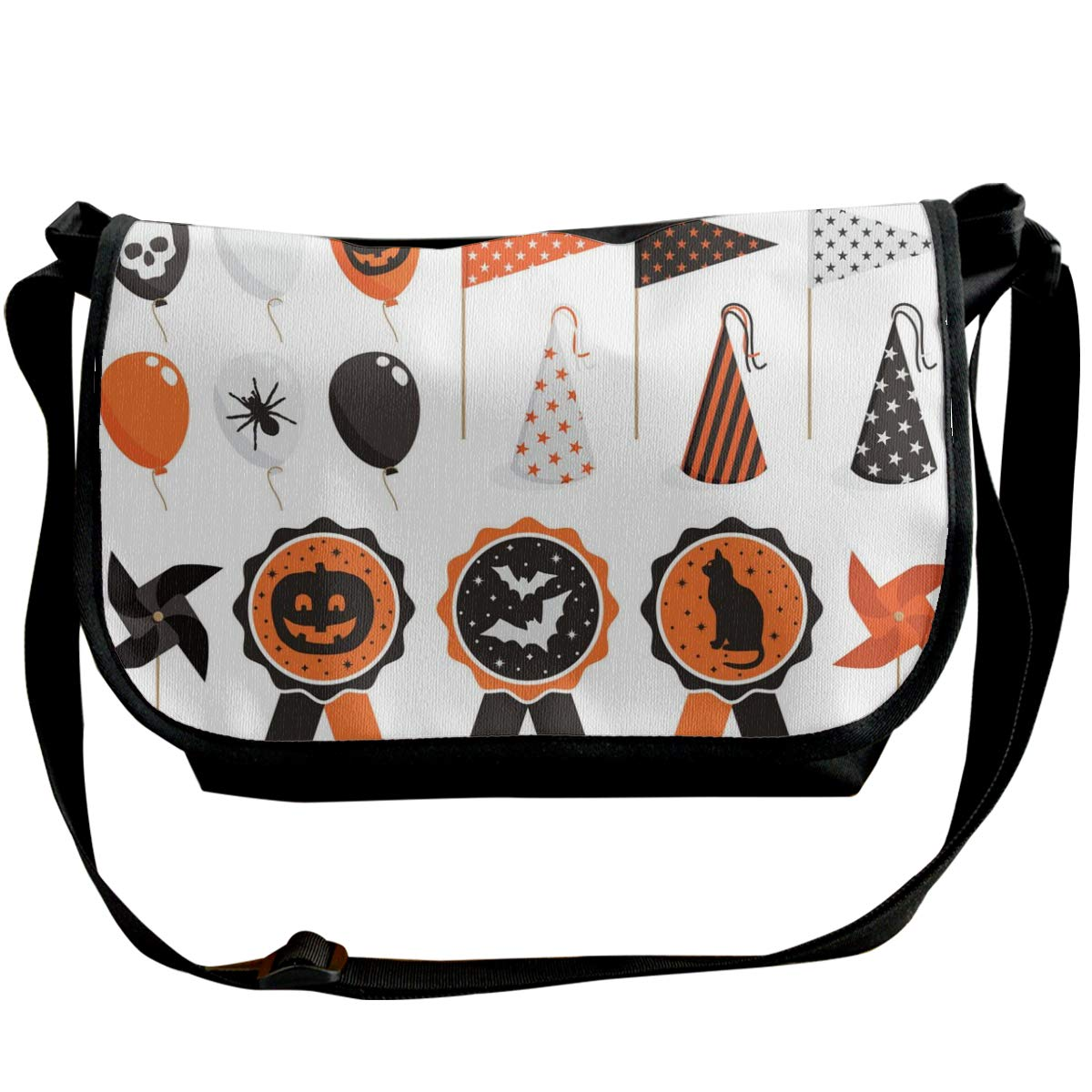 Taslilye Halloween Party Pack Vector Image Personalized Wide Crossbody Shoulder Bag For Men And Women For Daily Work Or Travel