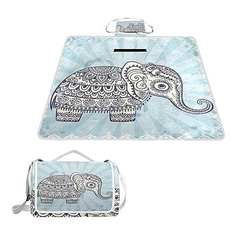 Amazon.com: Printedin3D Hippie indio elefante mandala playa ...