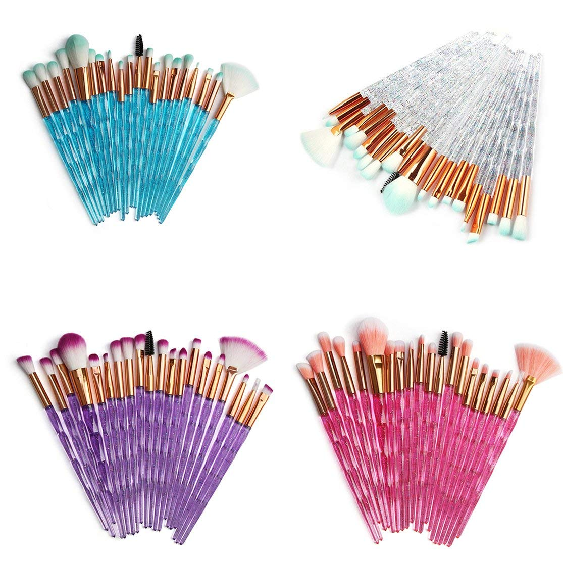 LouiseEvel215 Makeup Brushes Powder Concealers Eye Shadows Makeup Beauty Silk And Soft Tool Makeup Dense Shaped Flash Drill Eye Set Brush