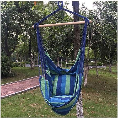 KOREY Interior Exterior Silla Colgante Portable Algodón Silla Hamaca para Mecerse Aire Libre Ultraligera Jardín (Color : Turquoise, Size : 130x100x80cm): Amazon.es: Hogar