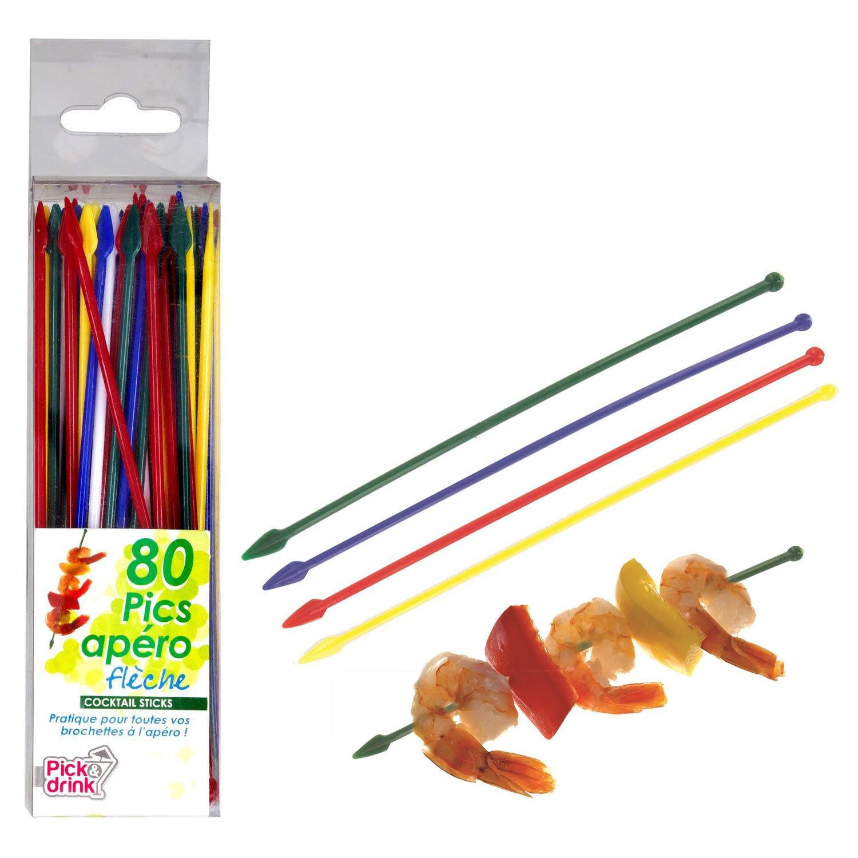 Pincho, mondadientes 13,5 cm de largo de plástico de 80 unidades ...